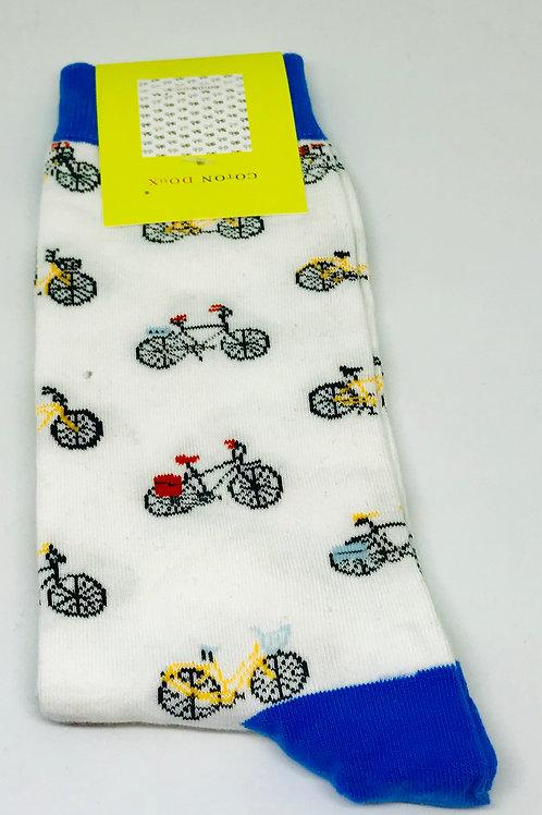Coton Doux Socks 'Bicycles Blue'
