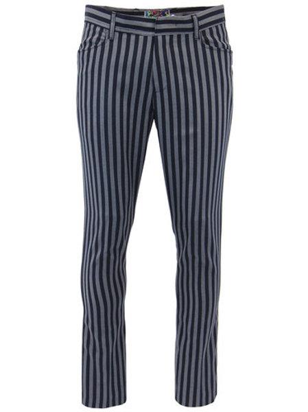 Madcap Mens Pants 'Meadon' Grey/Navy