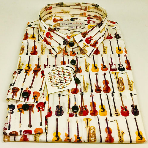 Coton Doux Kids Shirt 'Guitars n Horns'