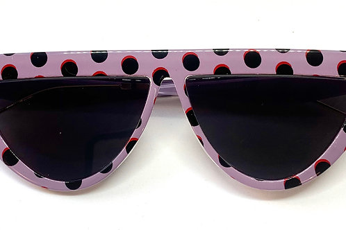 Sunglasses 'Purple Polka'
