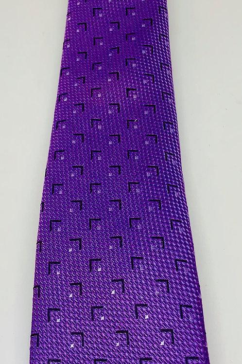 Coton Doux Mens Tie 'Purple Angle'