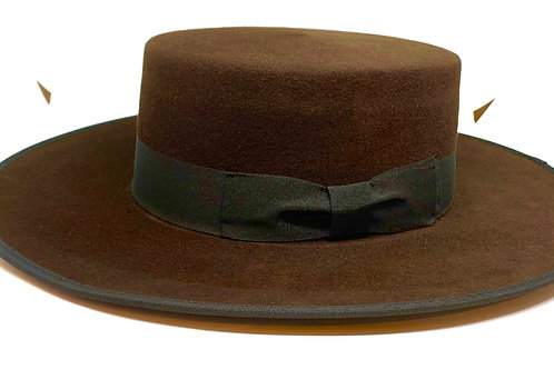 Daquino Hats Riding Darkbrown/wblack