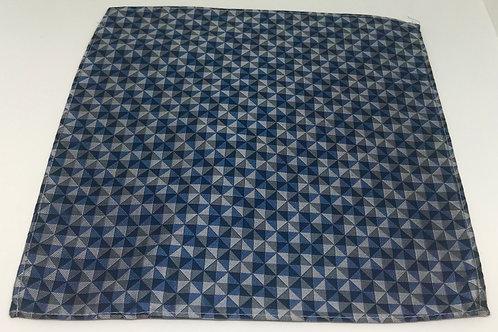 Pocket Squares Triangle Blue Grey