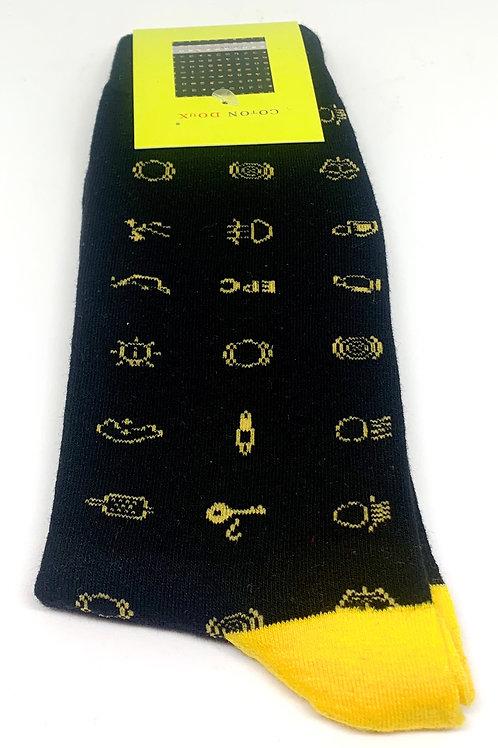 Coton Doux Socks 'Dashboard Lights'