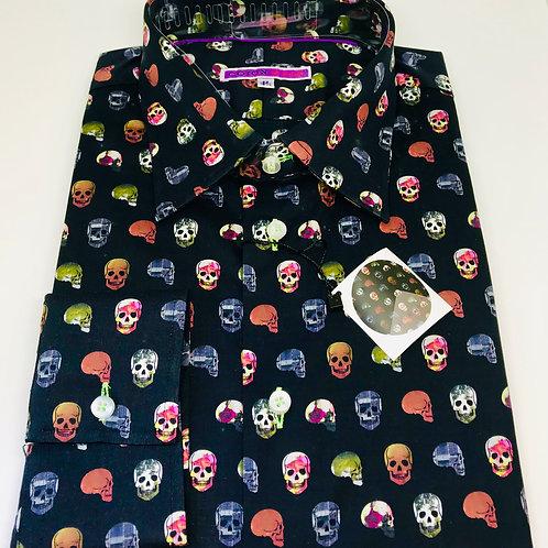 Coton Doux Mens 'Skulls Black'