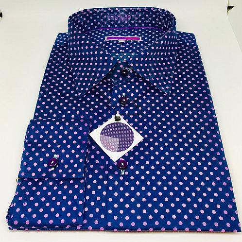 Coton Doux Mens Shirt 'Pink Dots'