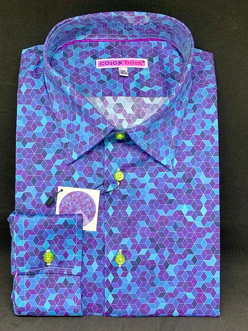 Coton Doux Mens 'Purple n Blue Blocks'