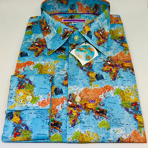Coton Doux Mens Shirt 'Maps'