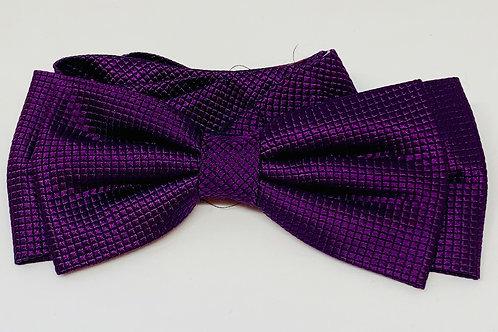 Coton Doux Bowtie 'Purple Chex'