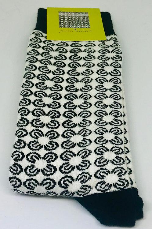 Coton Doux Socks 'Black Flowers'