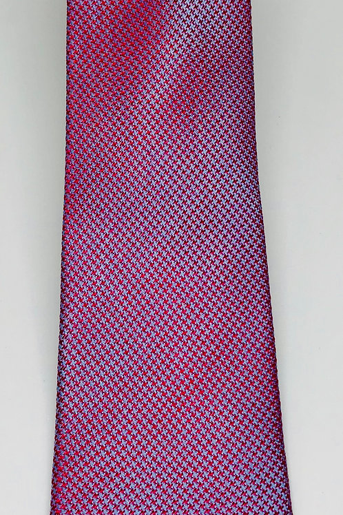 Mens Tie Straight Silvery Red Blue