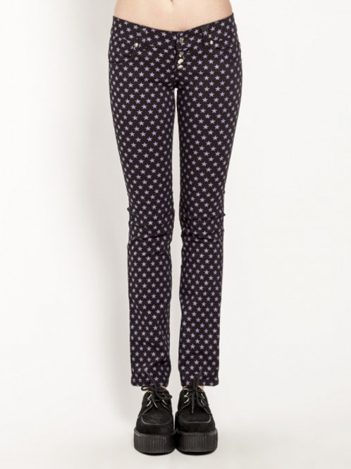 TrippNYC Womens Button Fly Stars Jeans