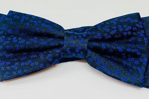 Coton Doux Bowtie 'BlueFlowers on Black'
