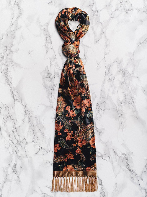 Phix Scarf 'Rose' Silk Paisley