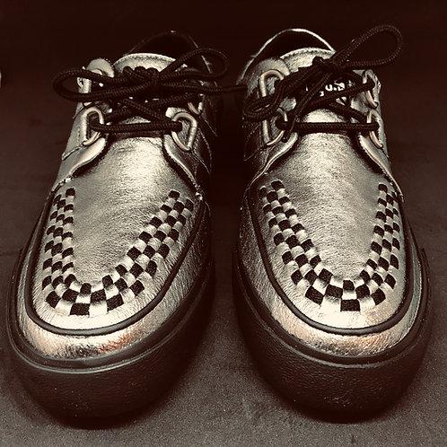 Tuk A9228 Creeper Sneaker Silver Giltter