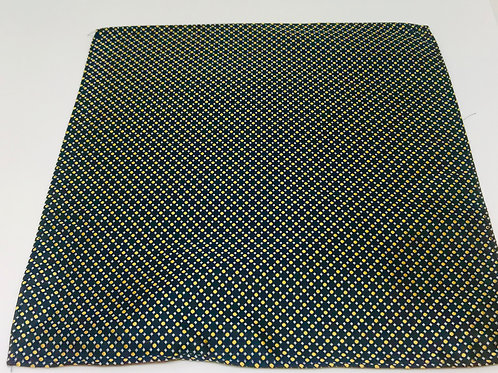 Pocket Square Yellow Dots on Black