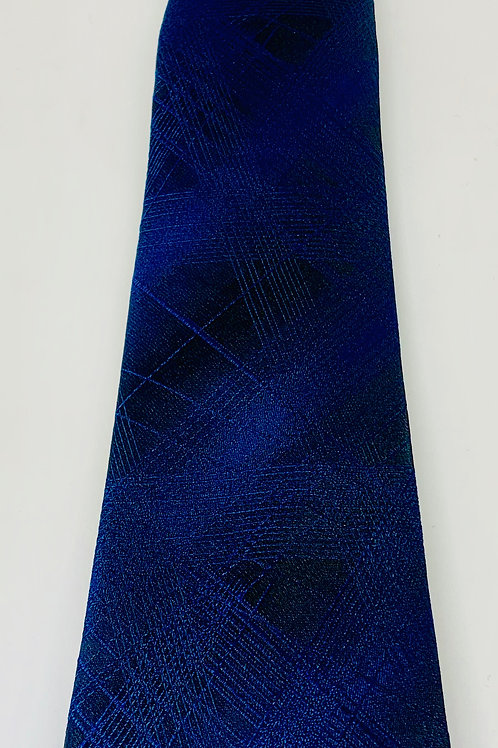 Coton Doux Mens Tie 'Blue Abstract'