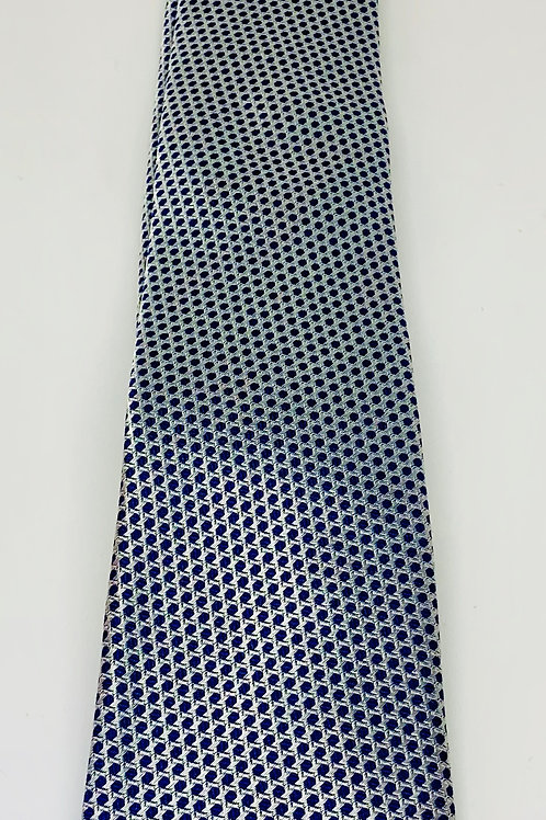 Coton Doux Mens Tie 'Silver Wicker'