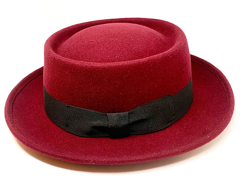 Daquino Hats Pork Pie Burgundy/wBlack