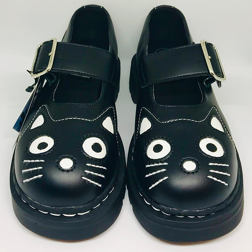 Tuk T2025 Mary Janes Kitty Anarchic Black Leather