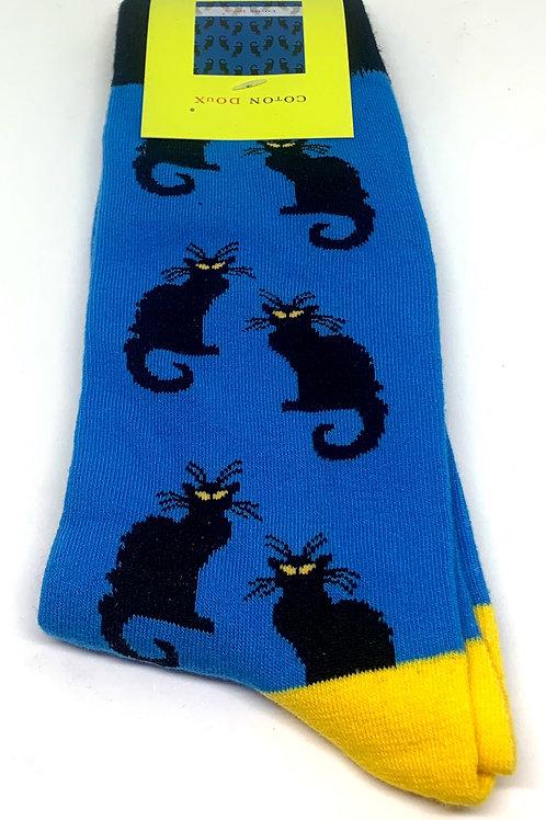 Coton Doux Socks 'Black Cats'
