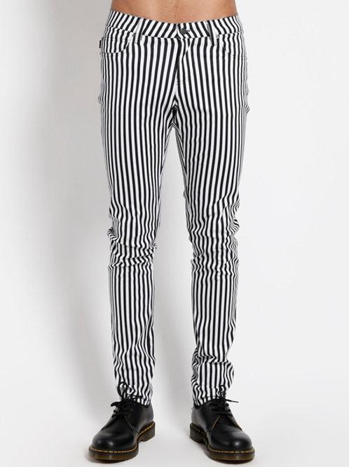 TrippNYC Mens Striped Rocker Jeans