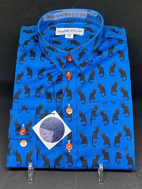 Coton Doux Childrens 'Black Cat on Blue'