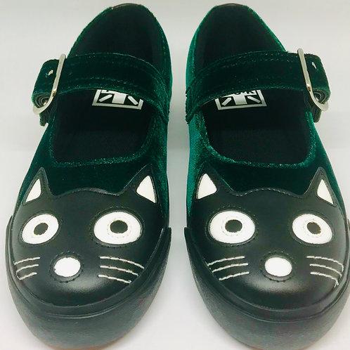 Tuk A9282L Emerald Velve Kitty Mary Jane Sneaker