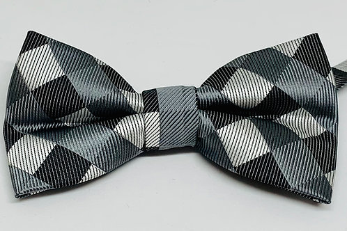 Otaa Brothers Bowtie Grey Checkered
