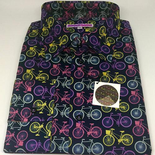 Coton Doux Mens Straight Cut 'Bikes on Black'