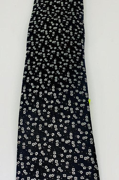 Coton Doux Mens Tie 'Daisys on Black'