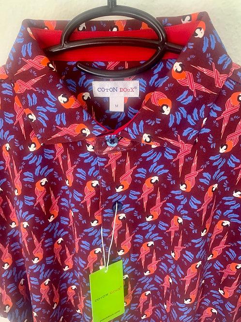 Coton Doux Polo Mens 'Parrots 69'