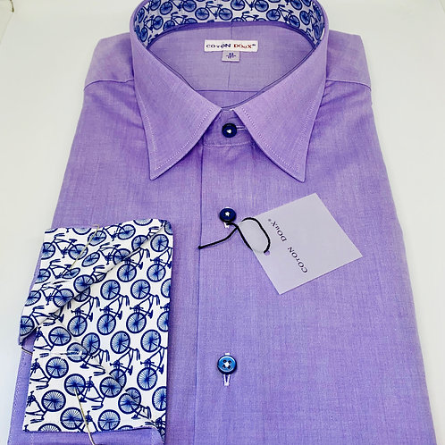 Coton Doux Mens Straight 'Lavender w/Bicycle Surprise'
