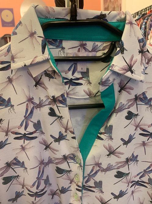 Coton Doux Polo Womens 'Dragonflys'