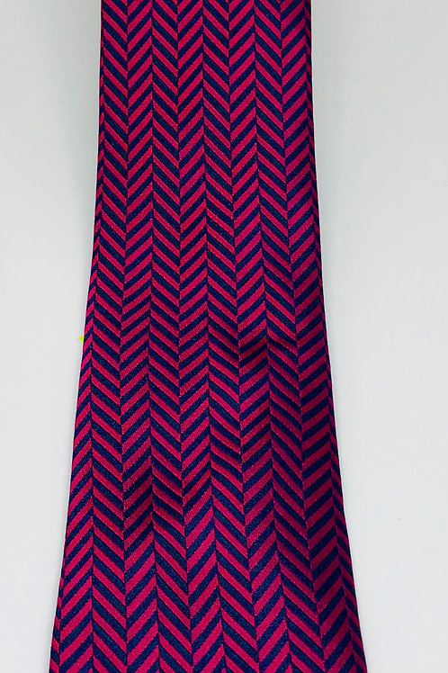 Mens Tie Straight Arrows Red and Blue