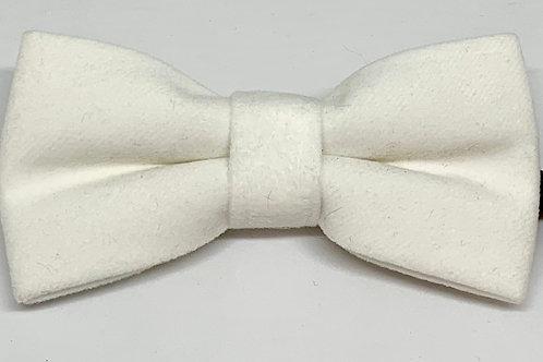 OTAA Bow Tie Velvet White