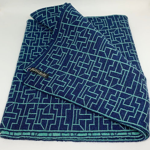 Fortschritt Scarf 'Ancient Letters Blue'