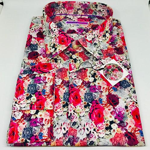 Coton Doux Mens Shirt 'Floral'