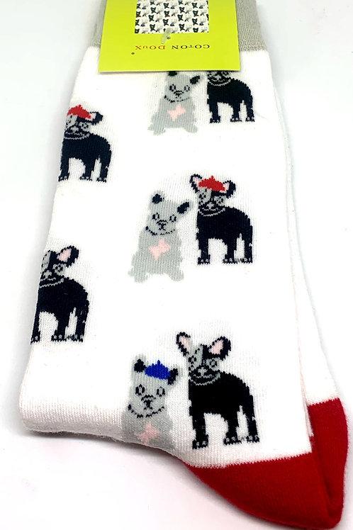 Coton Doux Socks 'Pugz?'