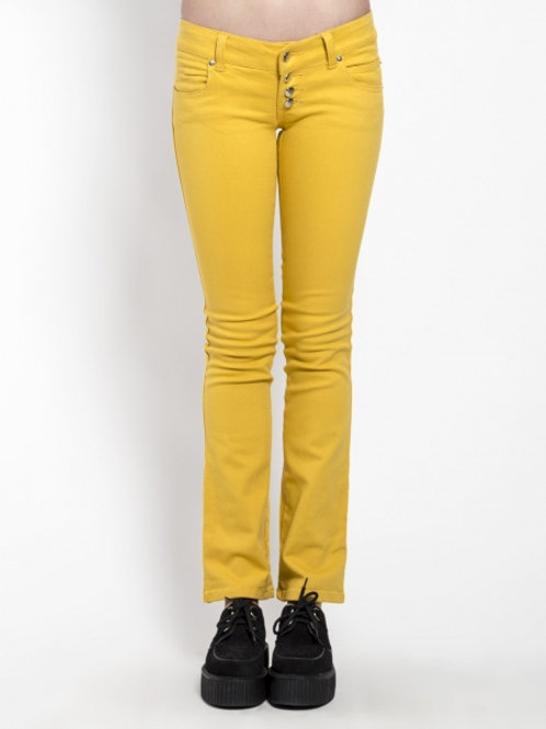 TrippNYC Womens Jeans Yellow
