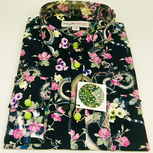 Coton Doux Kids Shirt 'Snakes n Flowers'