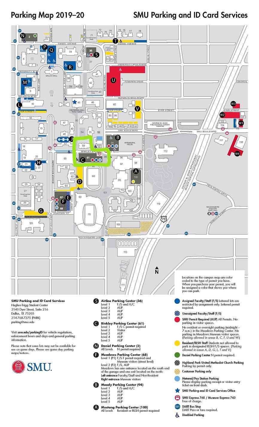 2019-20 Campus Parking Map - Binkley hig
