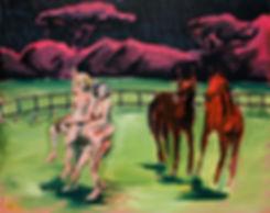 Christian Messier, artiste, Synergie, peinture à l'huile sur toile, 2016