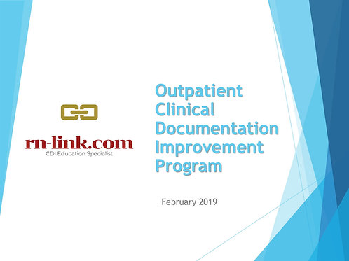Outpatient Clinical Documentation Improvement Program