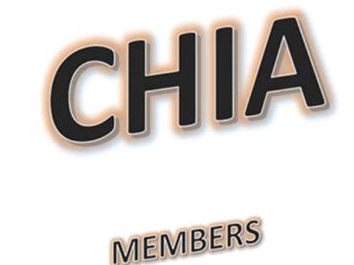 CHIA Members-2 day Webinar training (code: chia2018