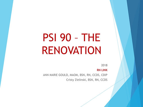 PSI 90  - THE RENOVATION