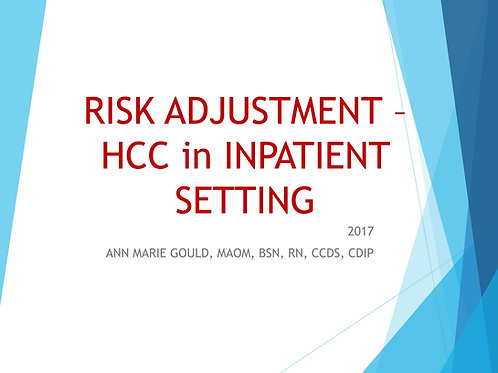 Risk Adjustment-HCC