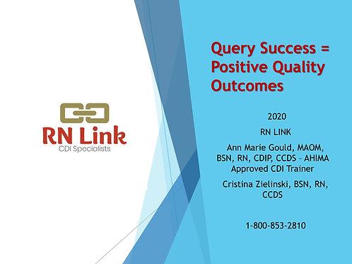 Query Success = Positive Quality Outcomes