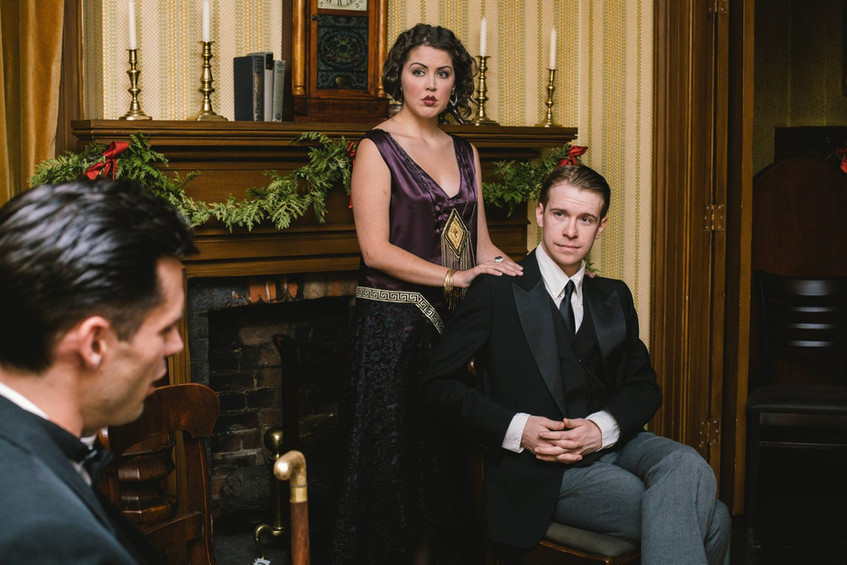 """Chelsey MacLean and Matthew McGrath in Bygone Theatre's """"Rope"""". Photo by Danielle Son."""