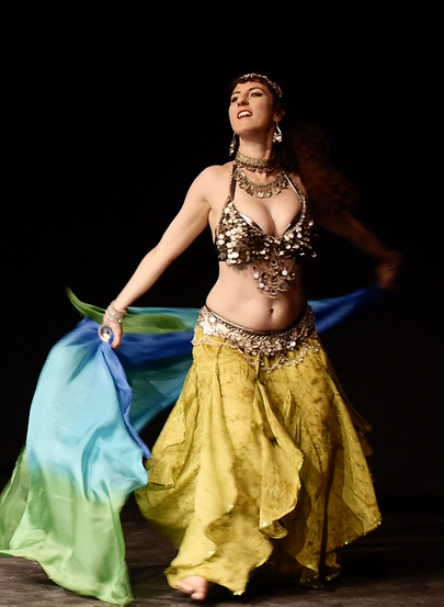 Anuka in Bygone Theatre's Vaudeville Revue.